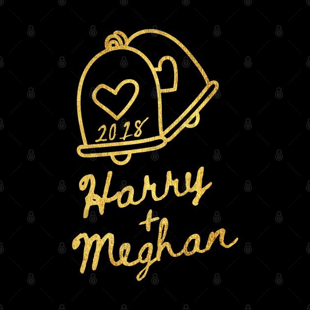 Harry Plus Meghan Royal Gold Wedding Bells