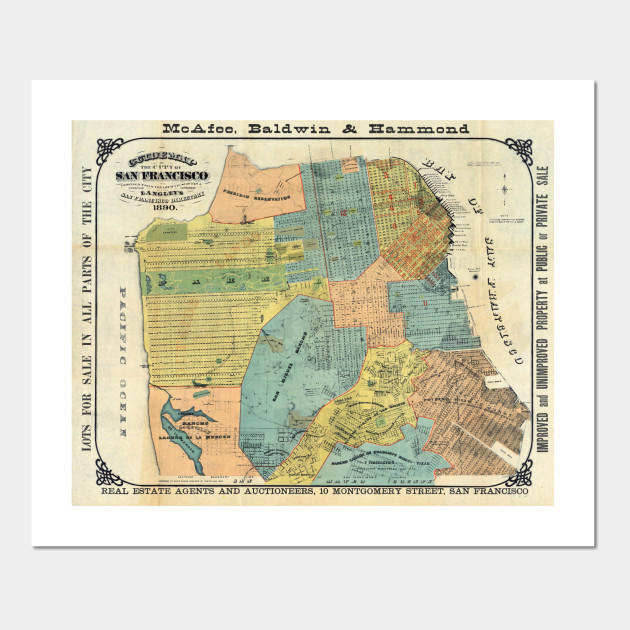 Vintage Map of San Francisco (1890) on maryland map poster, florida map poster, united states map poster, california poster, chicago map poster, ohio map poster, toronto map poster, paris map poster, germany map poster, los angeles poster, brooklyn map poster, venice map poster, indianapolis map poster, mississippi map poster, hong kong map poster, austin map poster, new england map poster, seattle map poster, columbus map poster, north carolina map poster,
