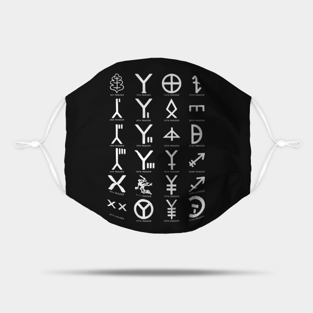 Panzer Divisions Symbols Insignia BACK PRINT