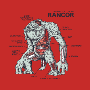 Rancor Anatomy t-shirts