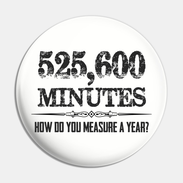 525600 Minutes Rent Musical Theatre Quotes - Actor Stage Manager
