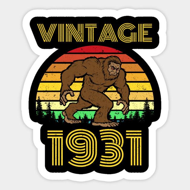 1931 88th Birthday Vintage Bigfoot 88 Years Old Gift Sticker
