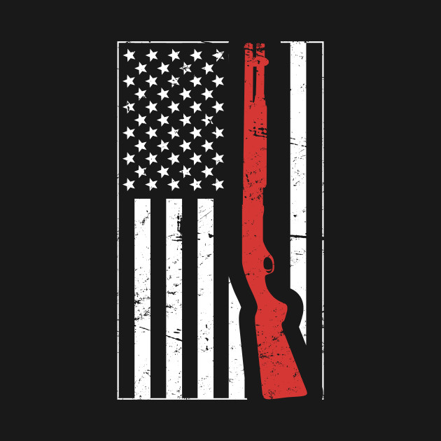 American Flag & Shotgun | Skeet Shooting