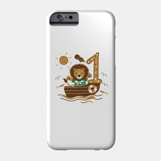 First 1 Birthday Toddler Boy Son Nephew Lion Cute Sweet One Year Old Mug Sticker Pillow Gifts Ideas Phone Case