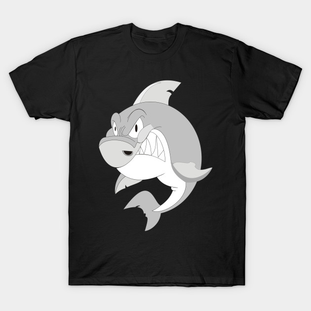 e7918181 angry shark - For Anyone - T-Shirt | TeePublic