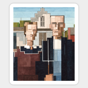 Main Tag American Gothic Stickers
