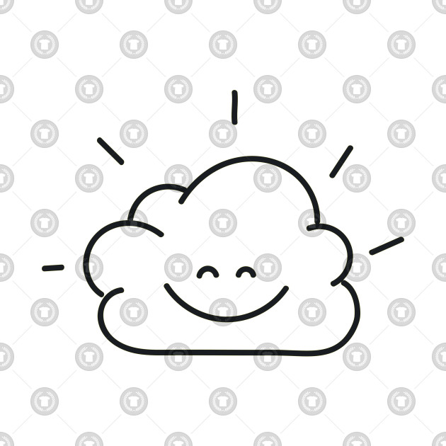 Line Smiley Clouds Clouds T Shirt Teepublic