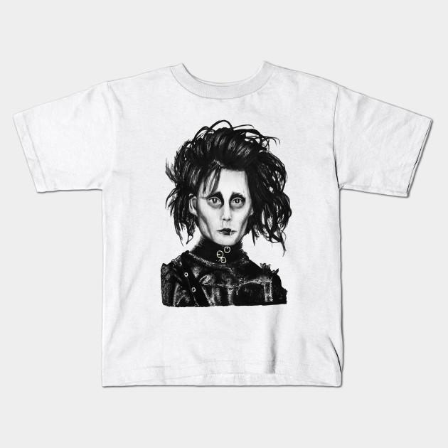 a19226279 Edward Scissorhands - Johnny Depp - Kids T-Shirt   TeePublic