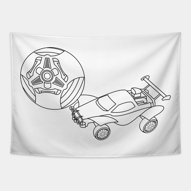 Rocket League Octane Black Rocket League Octane White Tapestry Teepublic See more ideas about rocket drawing, rocket, rockets logo. rocket league octane black