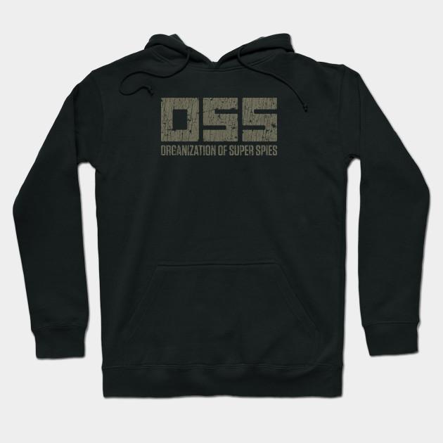 Espionage Zip /& Button Up Sweatshirt Jacket Black