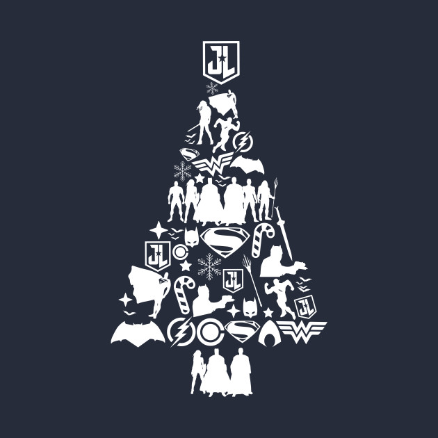 Justice League Christmas Tree Silhouette Justice League Christmas Tree Silhouette