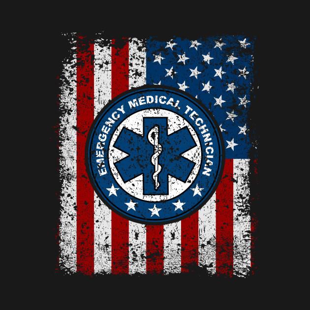 Emergency Medical Technician American Flag Emergency Medical