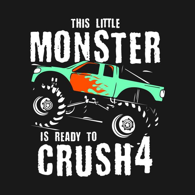 Monster Trucks 4th Birthday Gift   Big Trucks