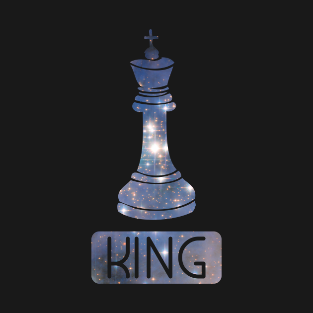 King Chess Piece Starry Night Galaxy