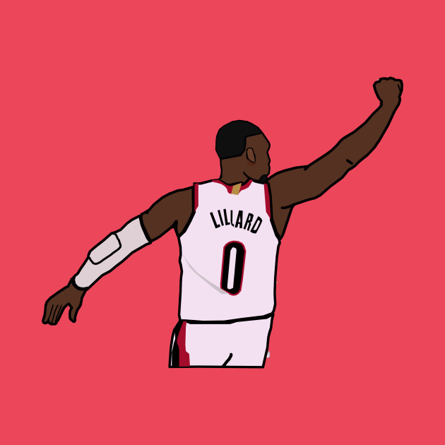 Damian Lillard Waves Goodbye to the Thunder - NBA Portland Trailblazers