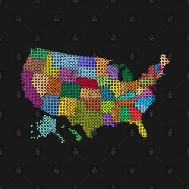 United States Map Mosaic