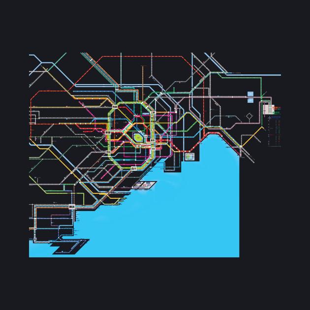 Subway Map Baseball.Tokyo Subway Map