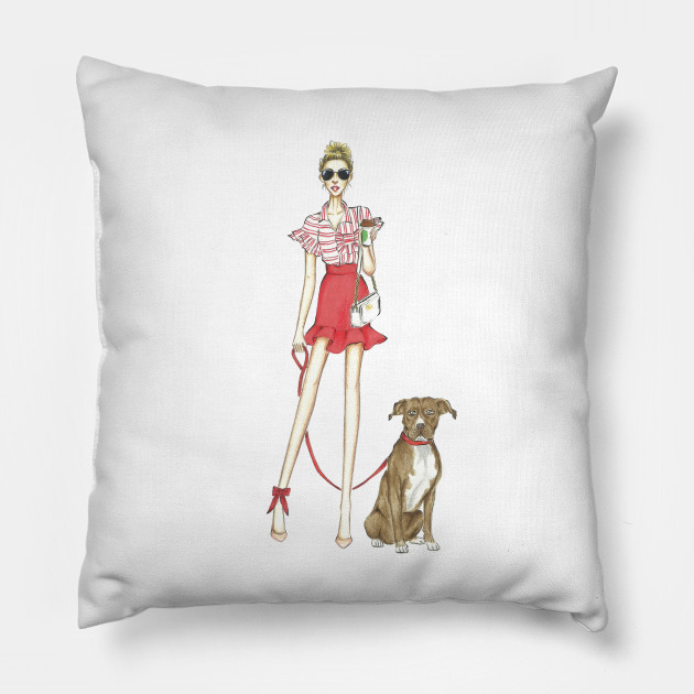 Cuscini Fashion.Reds Fashion Fashionista Cuscino Teepublic It