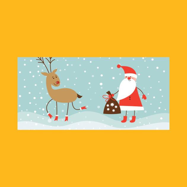 santa claus - Christmas - T-Shirt   TeePublic