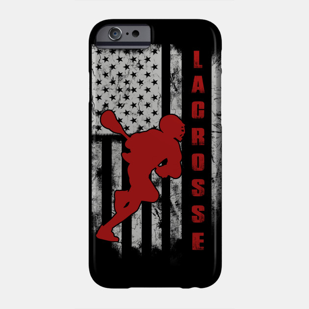 f5aa4bdf Lacrosse in my american flag design - Lacrosse - Phone Case | TeePublic