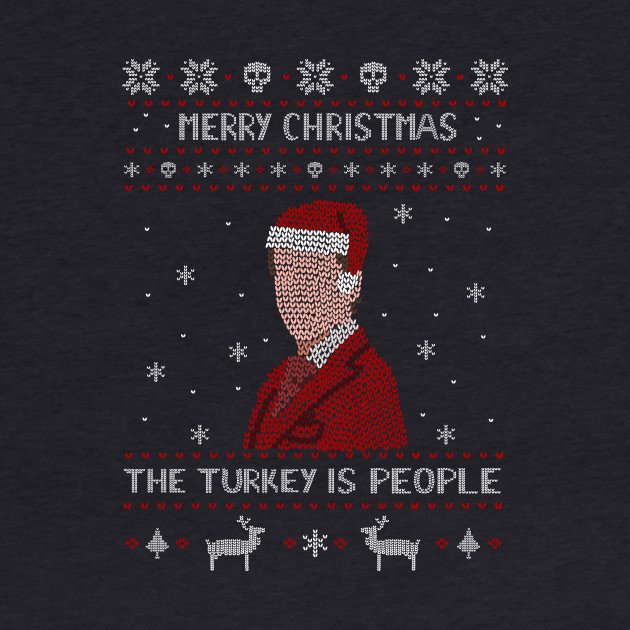 the turkey is people - hannibal ugly christmas sweater