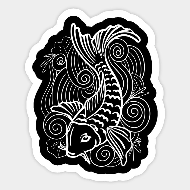 Koi Fish Art Fanatic Design Gift Idea Koi Sticker Teepublic