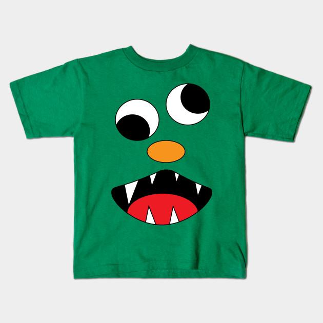 3889a3296 Silly Monster Face T-Shirt