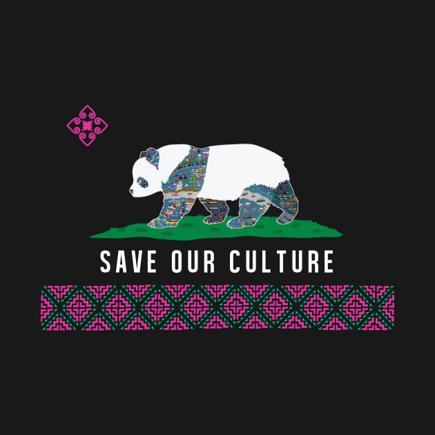 Save Our Culture (Hmoob Panda)- Dark Colored Tee