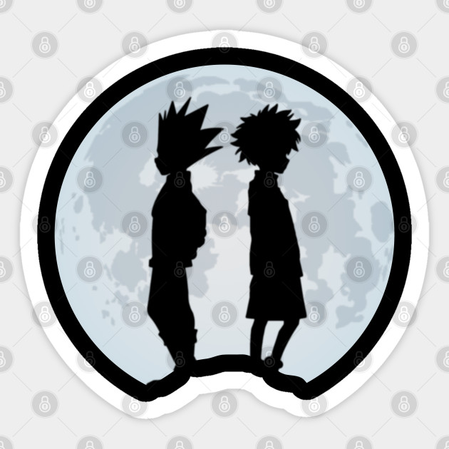 Duo Monster Hunter Hxh Killua Gon Pair Anime Sticker