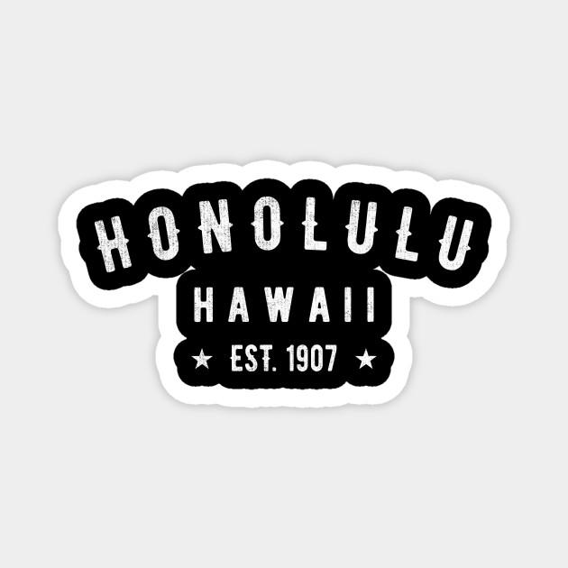 Classic Honolulu Hawaii 1907 Vintage Retro USA Island Novelty