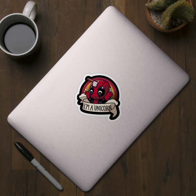 Deadpool Sticker I/'m A Unicorn