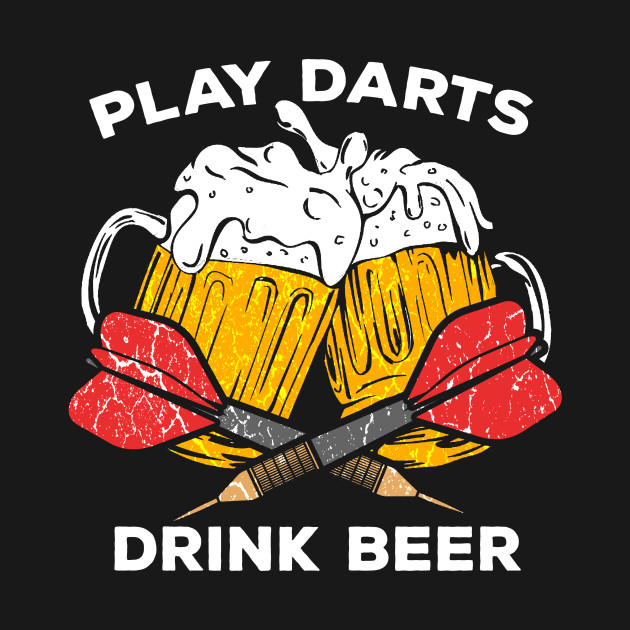 Funny Darts play dart drink Beer Team Player Pub Gift by mrteee