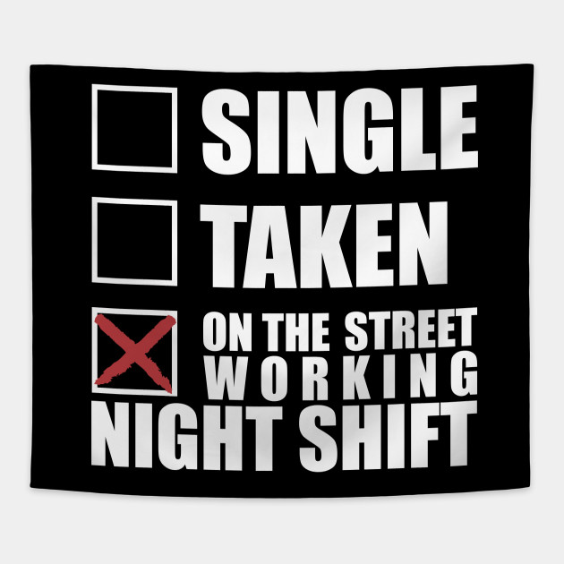 Taxi Driver Working Night Shift