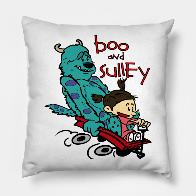 c5134816d Boo and Sulley as Calvin and Hobbes - Monsters Inc - Pillow | TeePublic
