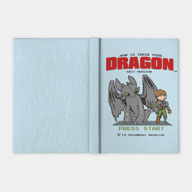 35603245 How To Train Your Dragon 8Bit Version - Mashup - Notebook   TeePublic