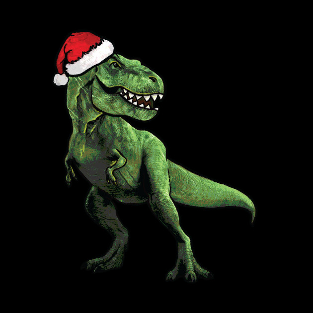 Dinosaur Christmas.Scary Santa T Rex Christmas Holiday Dinosaur Shirt