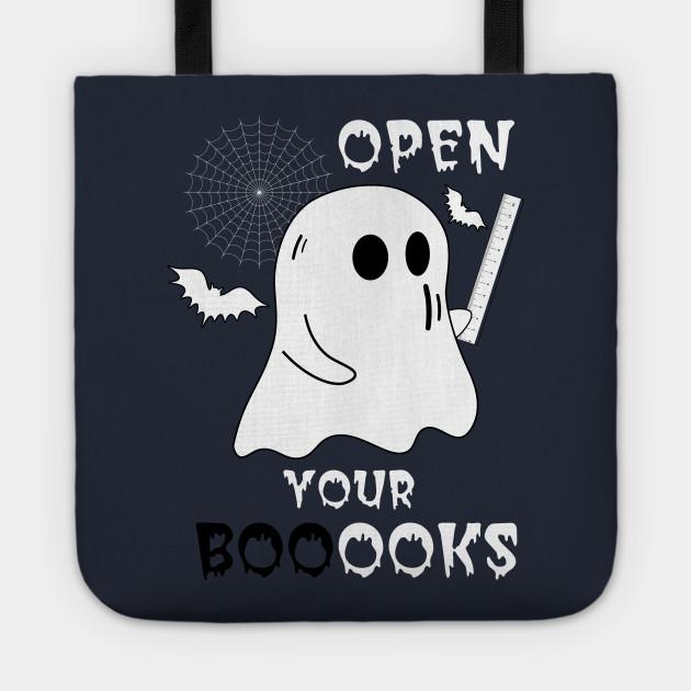 Boo Boo Crew Teacher Ghost Holding Ruler Funny Halloween - Open Your Booooks - Teacher Gift