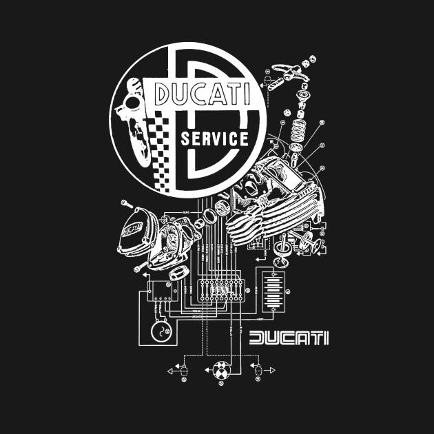 Ducati Service Supersport Collage - White