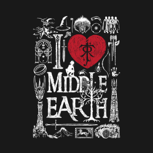 I love Middle Earth t-shirts