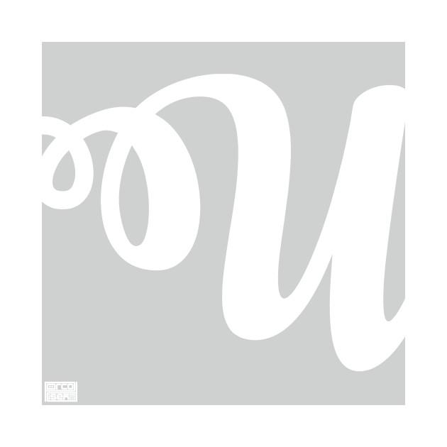 Letter U Elegant Cursive Calligraphy Initial Monogram
