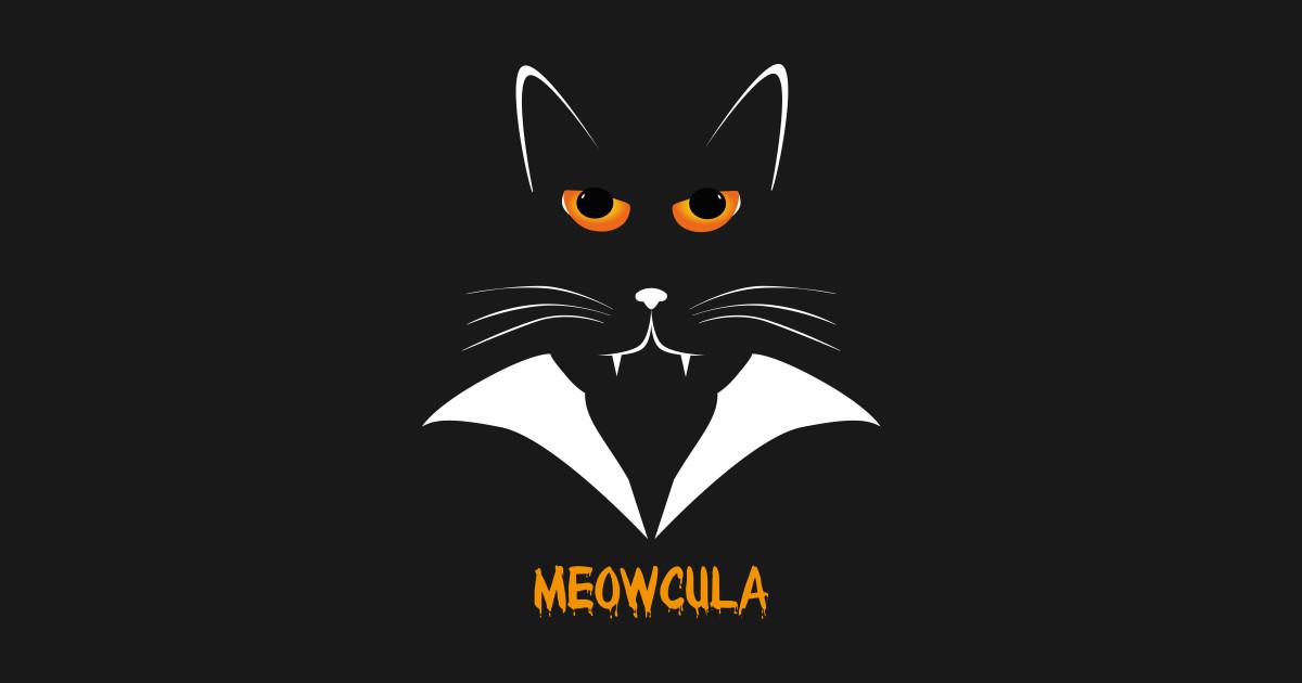 5cb3ddb99 Meowcula Funny Cat Vampire Dracula Halloween Tee Shirt gift T-Shirt