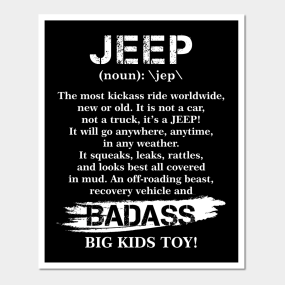 funny jeep definition for jeep lovers posters and art
