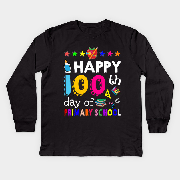 fd92c525e3b Happy 100 Days Of primary school Awesome T shirt F