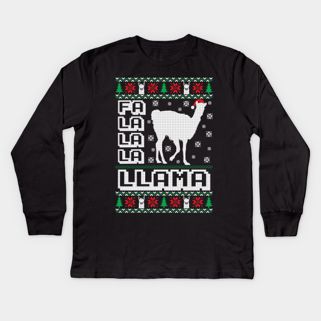 Llama Christmas Sweater.Fa La La La Llama Ugly Christmas Sweater Funny Holiday