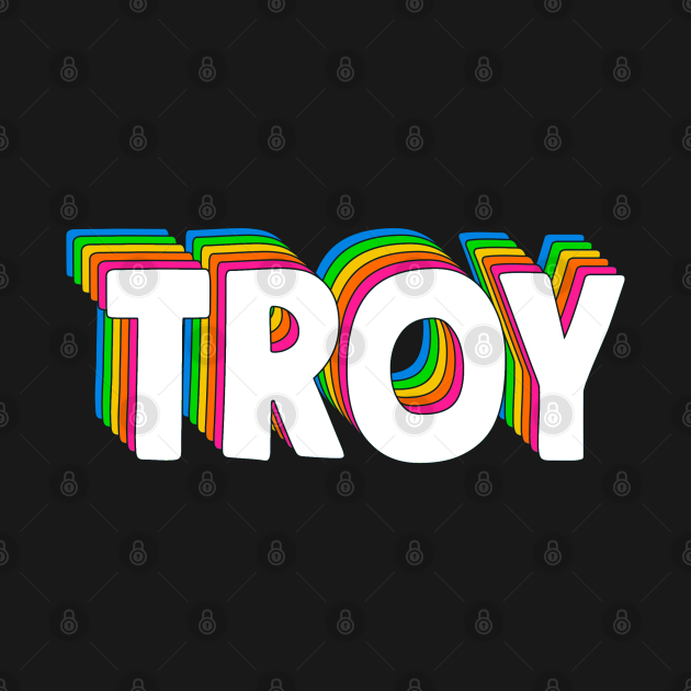 Hello My Name Is Troy Rainbow Name Tag - Troy - T-Shirt ...