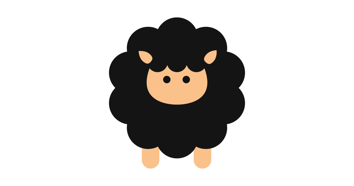 Cute Sheep, Cartoon Sheep, Baby Sheep, Black Sheep by sitnica