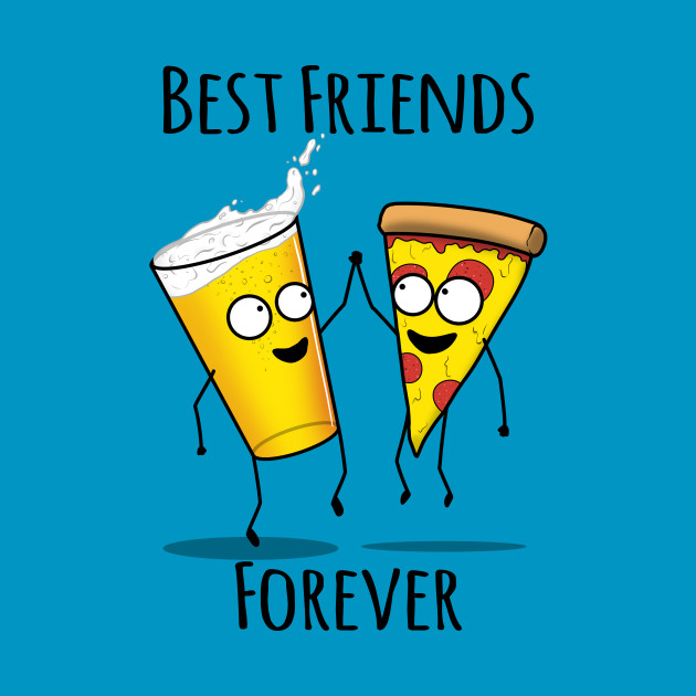 Pizza And Beer Bff T-Shirt