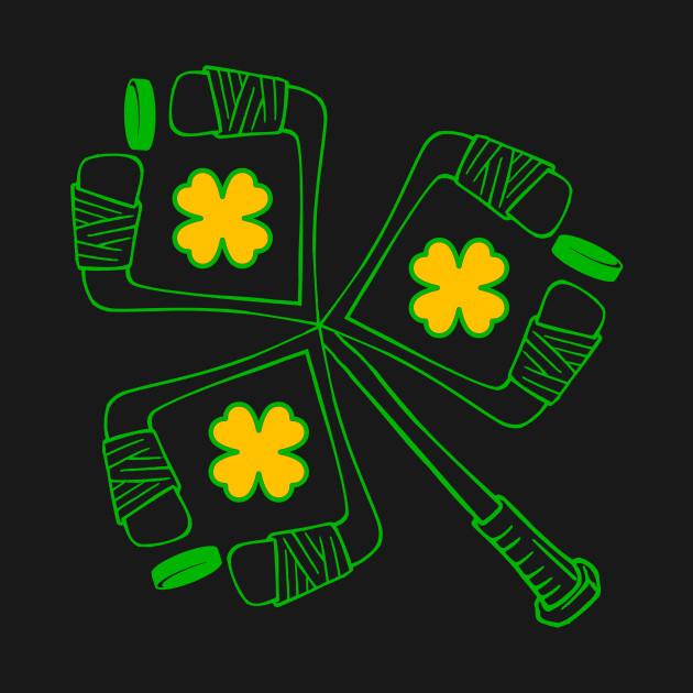 Hockey Sticks Player Lover Shamrock TShirt St.Patrick's Day