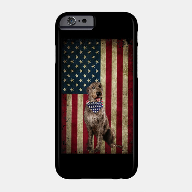 American Irish Wolfhounds dog bandana 4th of July t-shirt Phone Case