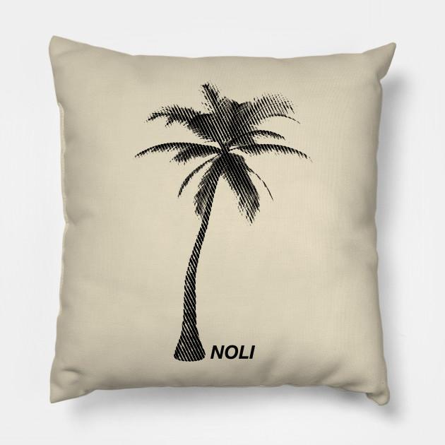 minimalist black and white palm tree print palm tree pillow